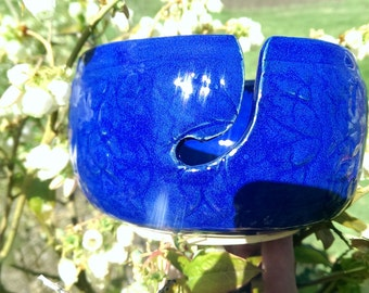 Yarn bowl cobalt blue
