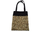 Handmade Fabric Leopard Gift/Goodie Bag - Leopard Print