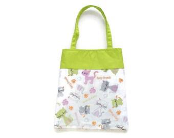 Handmade Fabric Gift Bags - Cats