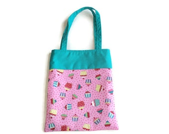 Small Cupcake Goodie Bag - Gift Bag - Mini Tote