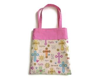 Handmade Fabric Crosses Gift/Goodie Bag - Crosses and Inspiration