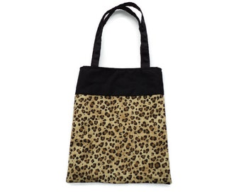 Fabric Leopard Gift/Goodie Bag - Leopard Print