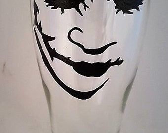 Joker Hand Painted Beer Glass