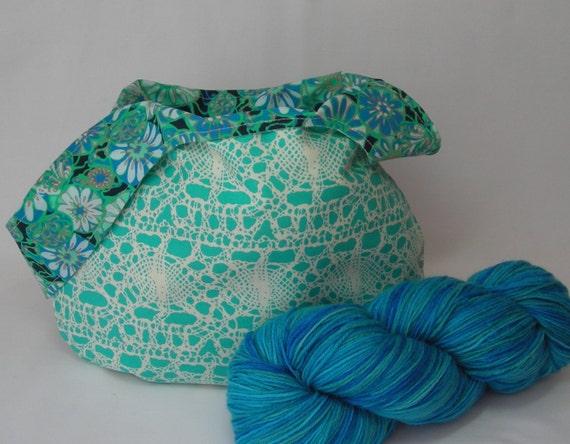 Knitting Project Bag - Japanese Knot bag - Crochet ...