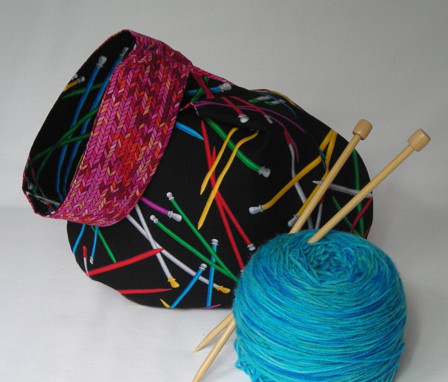 Knitting Project Bags For Sale : Sale japanese knot bag knitting project sock