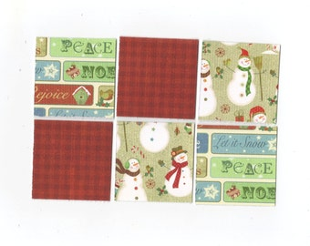 SALE Christmas Mini Note Cards (set of 6) CMN17 / Ready To Ship