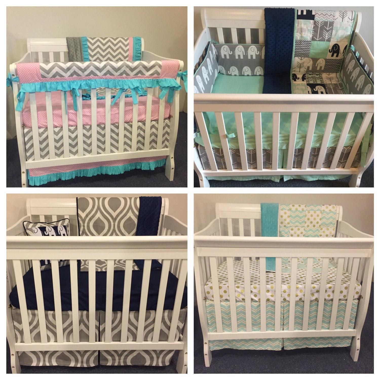 you design custom boutique mini crib bedding nursery girl boy. Black Bedroom Furniture Sets. Home Design Ideas