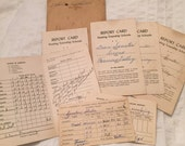 Bundle of Vintage Report Cards