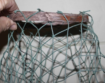 AWESOME LOBSTER TRAP  Parts Wonderful Netting and Lobster entry Hoop eco-friendly driftwood craft items resued,repurposed craft items