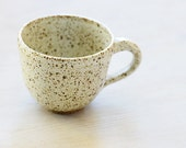 Small Wheel Thrown Stoneware Clay Coffee cup or mug