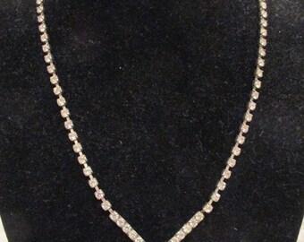 Vintage Rhinestone Necklace SALE