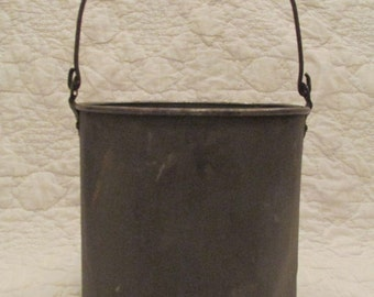 Antique Pail Metal with wood handle Sale