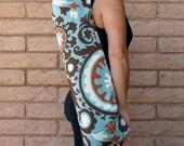 PIPER Teal Yoga Mat Bag Yoga Mat Tote Yoga Bag Yoga Tote Yoga Sling Yoga Sac Yoga Sack, Handmade