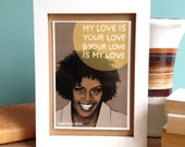 Whitney Houston Greeting Card - 90s Nostalgia - My Love Is Your Love