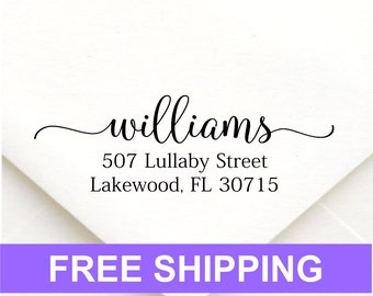 Address stamp self inking - Wedding Gift, Bridal Shower Gift, Realtor Gift, Housewarming Gift, Christmas gift R353