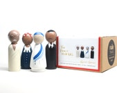 The Peace Makers // Wooden Peg Dolls //  Fair Trade Wooden Toys Educational Toys Historical