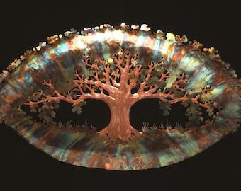 Sculpture, copper, copper sculpture, tree sculpture, tree of life sculpture, handmade, unique sculpture, wall art, wall hanging