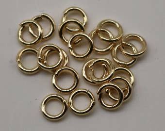200 pcs of 5mm Thick Jump Rings - Pinky Gold (Champagne Gold) Jumpring 5x1.0mm 18 Gauge 18G Bulk Jumprings Open O Ring