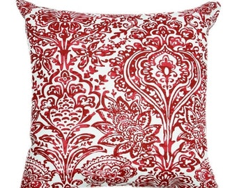 Premier Prints Shiloh Carmine Floral Decorative Throw Pillow - Free Shipping