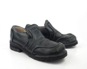 John Fluevog Shoes Vintage 1990 Black Leather F Uk Size 7 Women's Us size 9