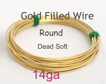 14K Gold filled wire - 14 gauge dead soft Troy ounce, made in USA wholesale Jewelry Wire Supply(1014A)