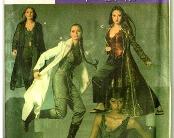 Matrix Trinity, Catwoman, Gothic Duster Coat, Vampire, Corset Vest, Pants Simplicity 4962 Sewing Pattern Misses Size 6 8 10 12