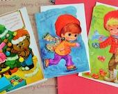 Vintage UNUSED Retro NOS Juvenile Christmas Cards for Mommy and Daddy in Vintage Christmas Card Lot No 473 Total of 3