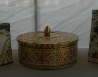 Vintage Daher Decorative Tin Containers (made in England)