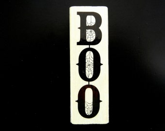 HALLOWEEN BOO Wood Mount Rubber Stamp