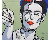 Frida Queen of Selfies mural    PRINT