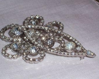 Large Vintage Rhinestone Brooch or pin