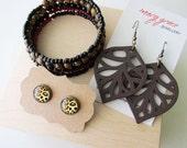 Bracelet and Earrings Jewellery Gift Set
