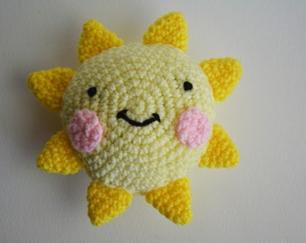 You Are My Sunshine Stuffed Toy in Yellow and Pink