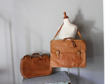 vintage INDIANA JONES leather travel luggage