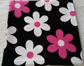 Michael Miller Plain Jane (black, pink) 34 inches x 36 inches