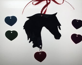 Horse Silhouette Ornament in Stained Glass