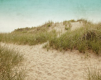 Beach Photography, Beach Dunes, Ocean Seashore Coastal Art, Landscape, Coastal Wall Art, Beach House Decor, Beige Tan Neutral, Summer