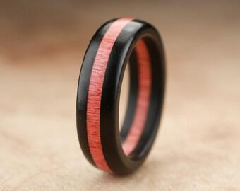 Ebony Ivory Wood Ring