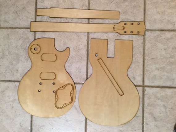 guitar cut out template - les paul standard luthier routing templates laser by