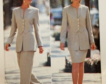 Vintage 1995, Sewing Pattern, Butterick 3849, Noviello Bloom Pattern, Misses' Jacket, Skirt and Pants, Misses' Size 12, 14 and 16, UNCUT, FF