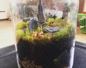 Mini graveyard Terrarium kit cemetery miniatures diy moss creepy spooky mason jar vampire coffin graves skull bones