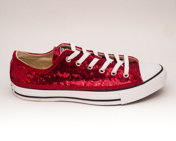 561a351c969064 Tiny sequin starlight red canvas custom converse jpg 570x456 Sequin  starlight yellow converse