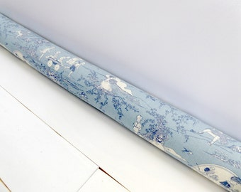 Door Draft Stopper - Unique Home Decor - Traditional Nursery Decor - Blue Door Snake -  Nursery Decor - Toile Stopper - Child's Play. 194.