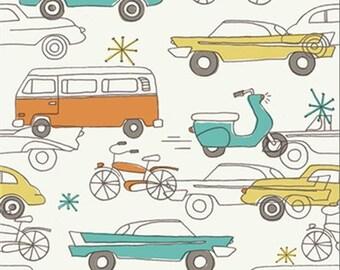 Circa 52 Organic Cotton Fabric JM12 Cars by Monaluna for Birch Fabrics