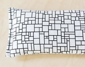 Eye Pillow Lavender & Flax Seed Sleep Mask, Yoga Meditation, Stress Relief, Black White Geometric Art Teacher Gifts