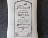 Birthday Gift Ideas For Best Friend, Thoreau Quote Lavender Friendship Sachet, Literary Gift