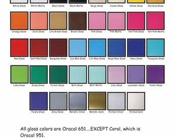 Adhesive Vinyl - Oracal 651 - Vinyl Sheet - Adhesive Vinyl Sheets - Next Day SHIPPING - 24 Hour Shipping