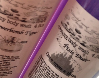 Creamy Body Wash 1.5oz, 4.5oz, 9oz and 18oz You Pick Size and Scent Photo: Flowerbomb Type and Pixie Dust
