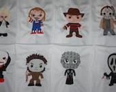 Horror Movie Machine Embroidered Quilt Blocks Set