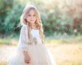Ivory Lace Shawl - Flower Girl - Miniature Bride
